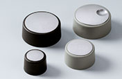 COM-KNOBS Deckel in edlem Metallic-Look