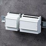 RAILTEC B din rail enclosures with low/high connection levels
