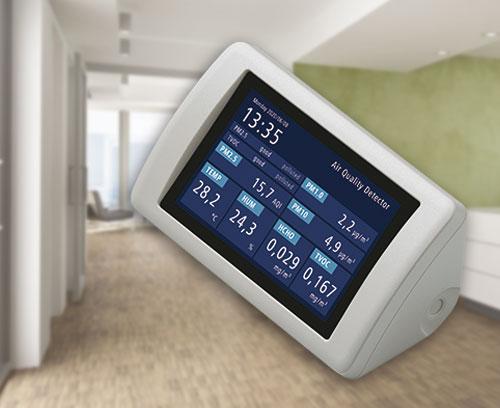 Aerosolmessgerät zur Überprüfung der Luftqualität in geschlossenen Räumen