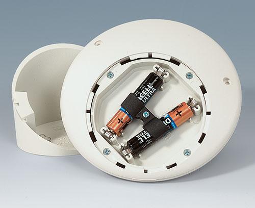 Batteriehalter zum Fixieren 2 x AAA bei Gehäusen mit Sockel 30°/55° erforderlich