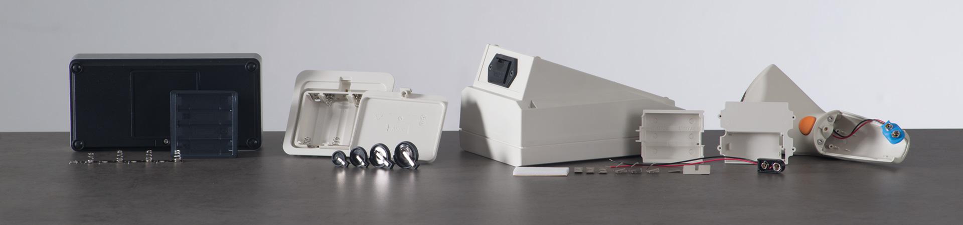 Batteriehalter, Batteriefächer, Knopfzellenhalter
