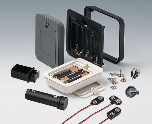 Batteriehalter und Anschlüsse