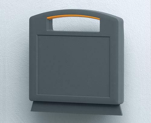 Sockel als Wandhalterung/Tischkonsole erhältlich (Zubehör)