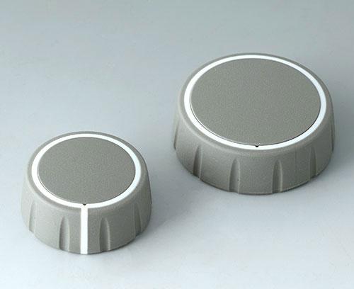 zwei Knopfgrößen: ø 36 mm, ø 46 mm