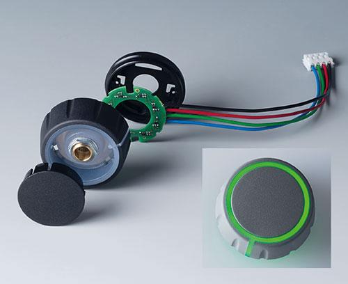 Einzelteile CONTROL-KNOBS mit RGB Backlight, Beleuchtung auf Deck- und Seitenfläche