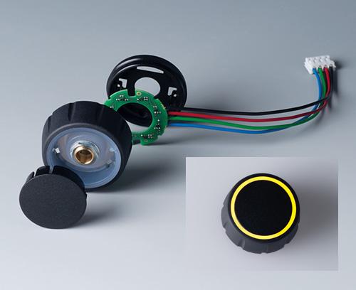Einzelteile CONTROL-KNOBS mit RGB Backlight, Beleuchtung auf Deckfläche
