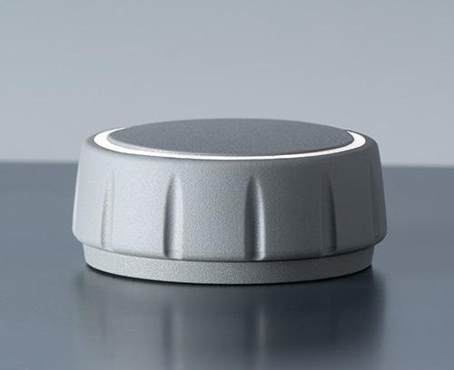 CONTROL-KNOBS ohne Beleuchtung; auch mit Sockel (Zubehör) einsetzbar für raffiniert schwebende Optik