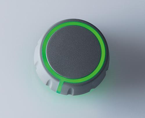 seitliche Zeigerlinie individuell beleuchtet für Feinskalierung (CONTROL-KNOBS mit optionaler Beleuchtung)
