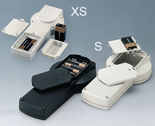 DATEC-CONTROL XS/S: Batteriefächer für 2/3 x AA oder 9 V