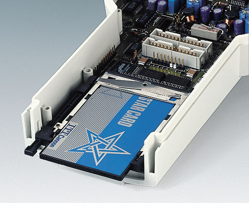 DATEC-CONTROL M/L mit Anwendung PCMCIA-Karte