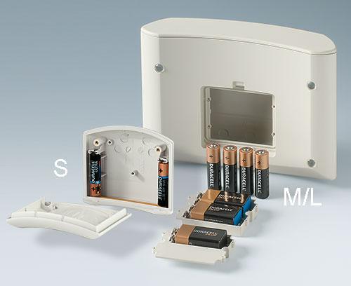 Batteriefächer 4xAA oder 9 V; Halterungen für 2xAAA
