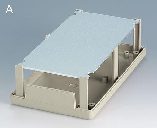 separate Aluminium-Frontplatte leicht zu bearbeiten