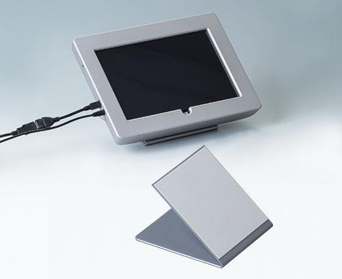Integration von Standard-Tablet plus Aufsteller (INTERFACE-TERMINAL mit Aluminium-Frontplatte)