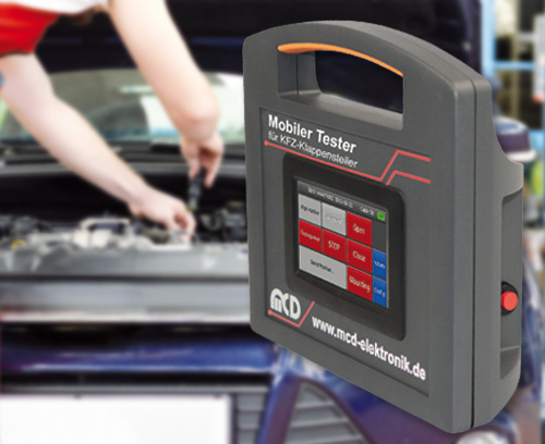Mobiler Tester zur Fehleranalyse, MCD Elektronik