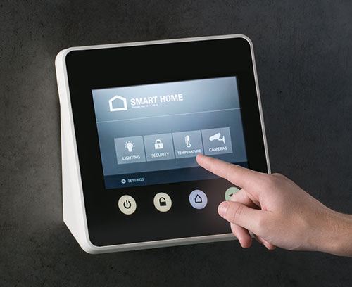 Beispiel einer Wandapplikation mit Touchscreen
