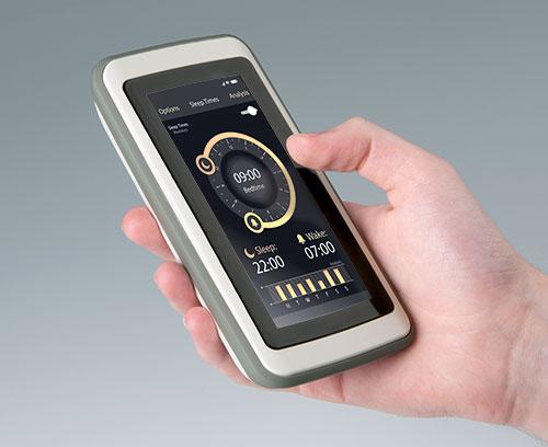 SLIM-CASE mit Touchscreen-Anwendung