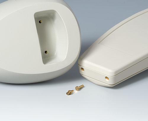 Sockel und Gehäuse mit Kontakten (Zubehör, Aufnahmebohrungen erforderlich)
