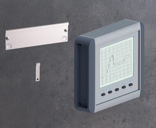 Wandhalter-Set als Zubehör (Gehäuseausrichtung im Querformat)