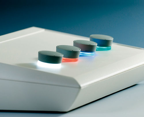 STAR-KNOBS Aufbauvariante mit LED-Beleuchtung