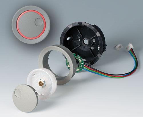 Einzelteile Einbauvariante mit LED Backlight