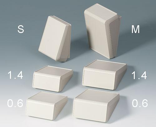 2 Größen, vertiefte Bedienflächen 0,6 mm (Dekorfolie) oder 1,4 mm (Folientastatur)