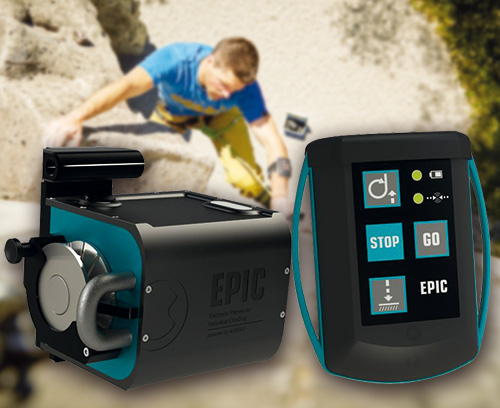 Vollautomatisches Sicherungsgerät für Kletterer