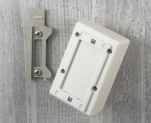 Wandhalter-Set für Kunststoff-Kleingehäuse