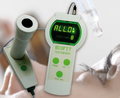 BIOFIT test unit for eye frequency