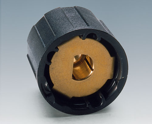 Torsion protection for torsion-proved mounting of knobs