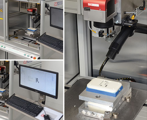 Laser marking of parts
