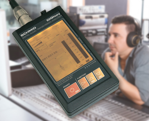 Portable analyser for digital-audio interfaces, Schmid electronic