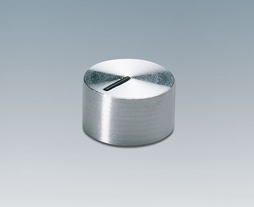 Tuning knob with aluminium cap