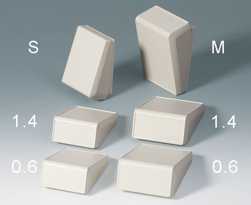 2 sizes, recessed areas 0.6 mm (labels) or 1.4 mm (membrane keypads) deep
