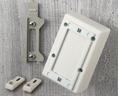 wall suspension elements for enclosures