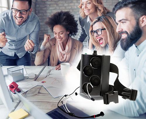 Wearable voice amplifier