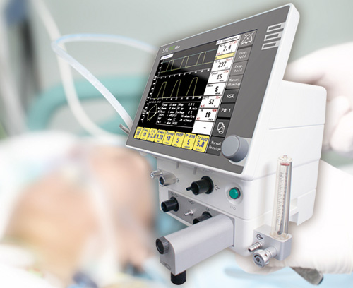 Operating element for an intensive care ventilator