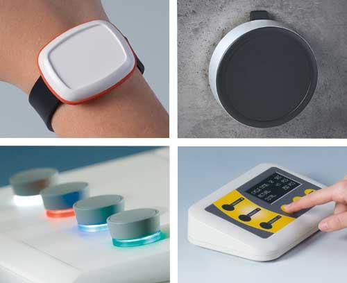 Cajas y botones giratorios