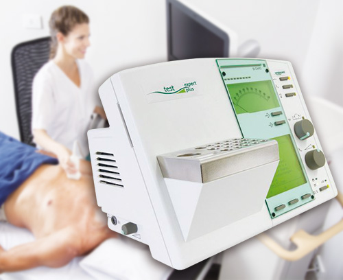 Élément de commande pour appareil de diagnostic