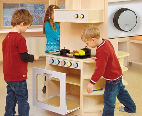 Éléments de commande pour meubles de cuisine pour enfants