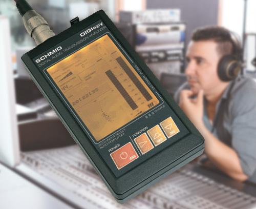 Appareil d'analyse portable pour interfaces audio-numériques, Schmid electronic