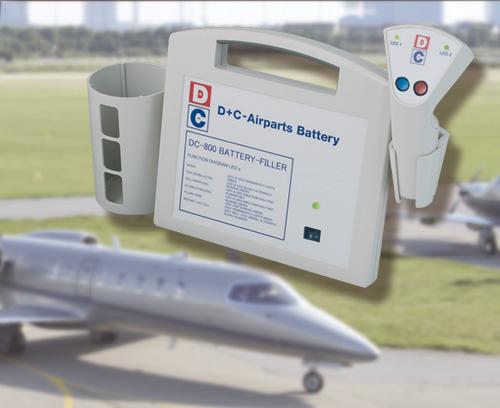 Appareil pour le chargement de batteries d'avions