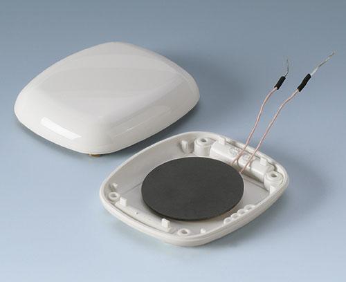 Partie inférieure avec piles rechargeables avec bobine permettant un chargement (exemple)