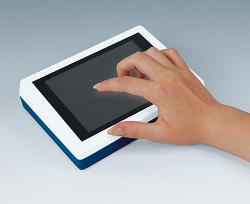 Boitier pupitre avec écran tactile et couleur personnalisée