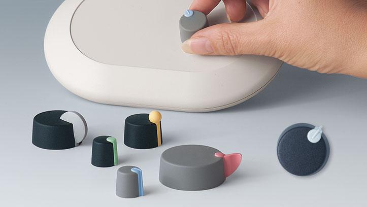 boutons de commande à enficher