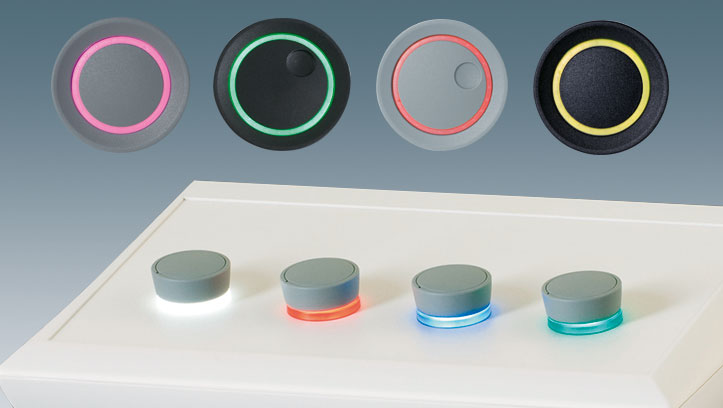 boutons de commande avec LED éclairage
