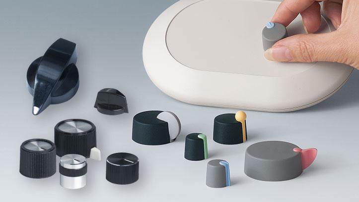 boutons de commande avec fixation latérale par vis