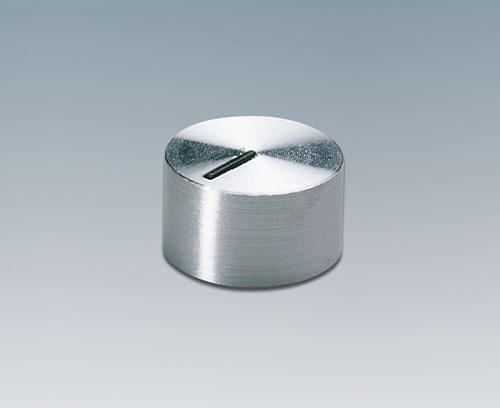 Bouton de commande avec capuchon aluminium