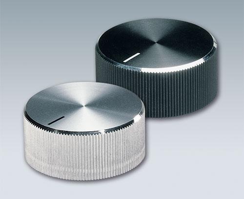 Boutons de commande avec capuchon aluminium