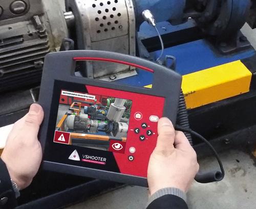 Caméra de diagnostic pour la représentation de l'état de la machine