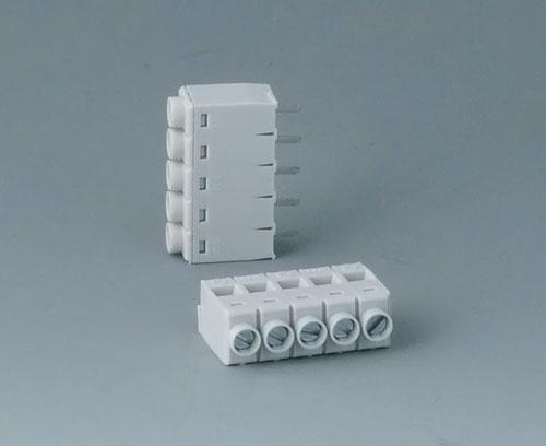 B6601111 Borne à circuit imprimé, grille 5,0